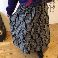 lady's patterned tiered skirt