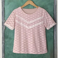 lady's pink lace tops