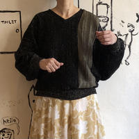 lady's gold glitter dolman sleeve knit tops