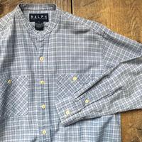 Men's RALPH LAUREN L/S stand collar work check shirts(Men's M)