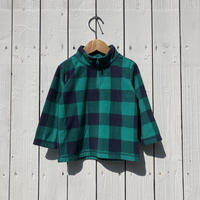 kids check fleece jacket(2T/90cm)
