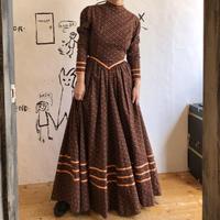 lady's 1970's maxi length dress