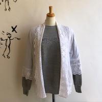 lady's scallop cotton lace gown