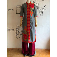 lady's embroidery china design one-piece