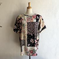 lady's patchwork pattern tops