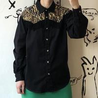 lady's animal pattern western shirt