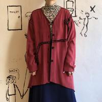 lady's bordeaux ribbon design gown