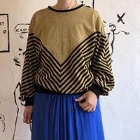 lady's gold×black knit