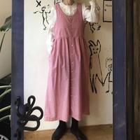 lady's gingham check jumper skirt