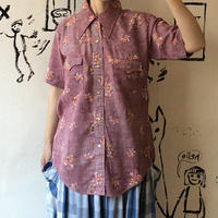 lady's floral pattern western shirt