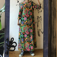 lady's psychedelic pattern long one-piece