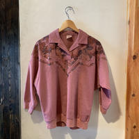 lady's pink suède design tops