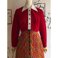 lady's 1970's vintage short length shirt jacket
