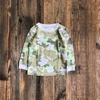 kids  L/S tee camoflage thermal(2T/90cm)