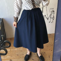 lady's 1970's navy flare skirt