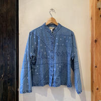 lady's L/S embroidery kang fu shirt tops
