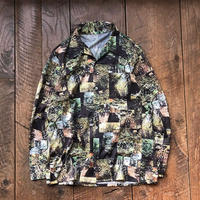 Men's 1970s forest picture patchwork print shirts