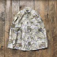 Men's 90s bird pattern cotton shirts(Men's L)