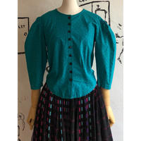 lady's 1980's vintage puff sleeve tops