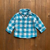 kids L/S flannel shirt(6M/60cm)