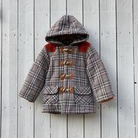 kids check duffel coat(12M/80cm)