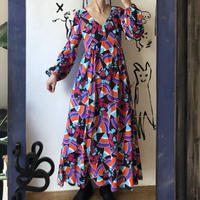 lady's 1970's psychedelic pattern one-piece