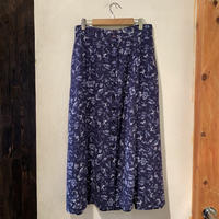 lady's floral button up skirt