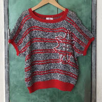 lady's sequins & beads summer knit