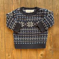kids nordic pattern knit(0-3M/50cm)