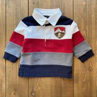 kids dog patch rugby shirt(9M/70cm)