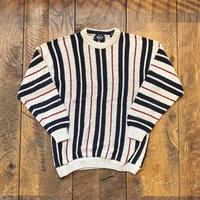 Men's 1980s MADE IN USA Woolrich stripe cotton  sweater (Men's M)
