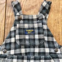 """kids OSHKOSH overalls""""flannel check""""(6M/60〜70cm)"""