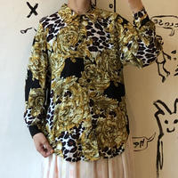 lady's patterned blouse