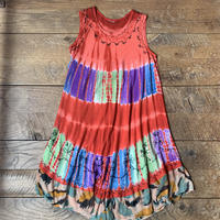 lady's tie-dye embroidery dress
