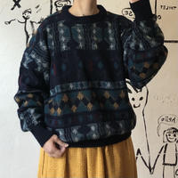 lady's patterned sweater