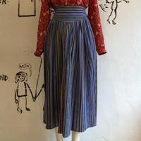 lady's multicolor stripe skirt