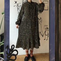 lady's animal pattern frill design one-piece