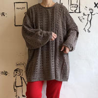 lady's big silhouette knit tops