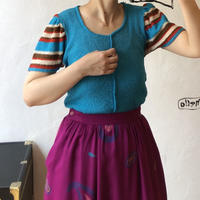lady's flare sleeve summer knit