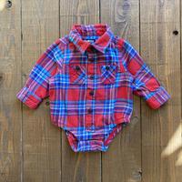 kids Oshkosh shirt rompers(6M/60cm)