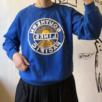 "lady's ""SOUTHERN LINES PACIFIC"" blue color sweat"