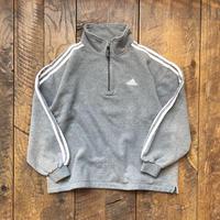 Men's MADE IN ITALY adidas half zip sweat(Men's L)