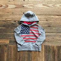 kids OSHKOSH star&stripe zip up parka(2T/90cm)