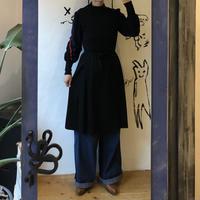 lady's black knit one-piece