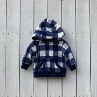 check  fleece jacket(9M/70cm)