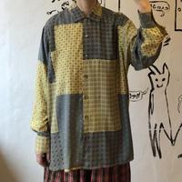 lady's patchwork style pattern shirt
