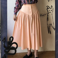 lady's 1970's pink lace design flare skirt