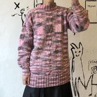 lady's pink gray mix sweater