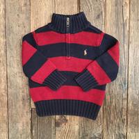 kids Ralph Lauren half zip knit(12M/80cm)