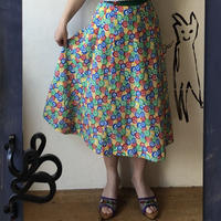 lady's colorful pattern skirt